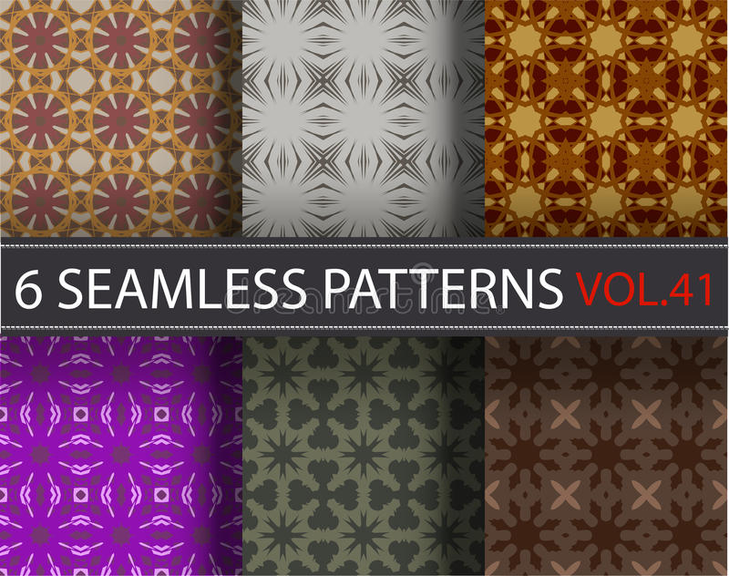 Set, pack, collection vector seamless patterns, tiling. Geometric ornaments. stock photos