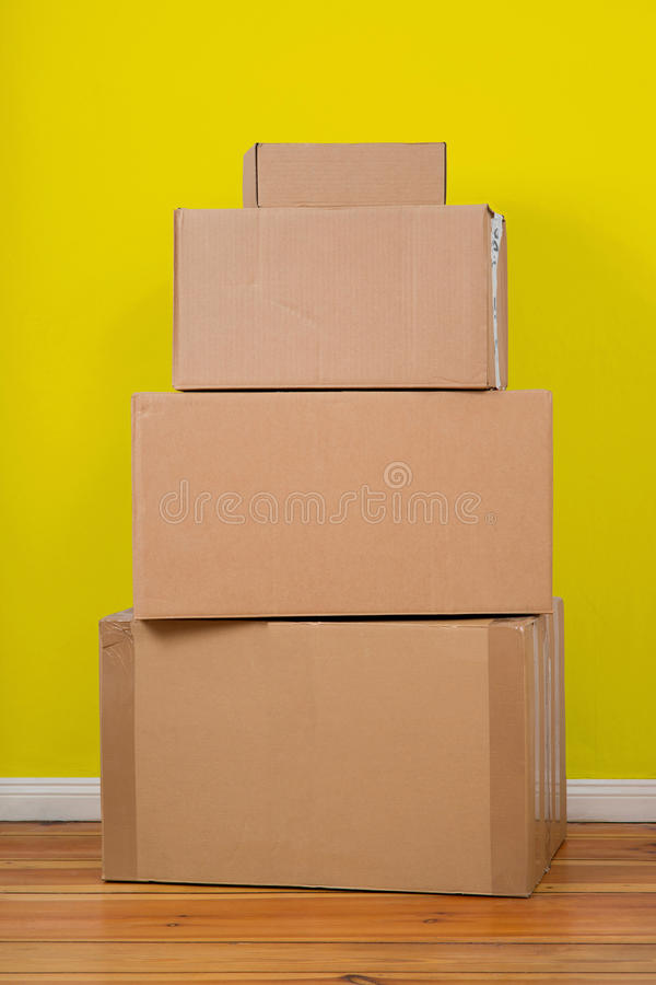 Set of Packages royalty free stock photo