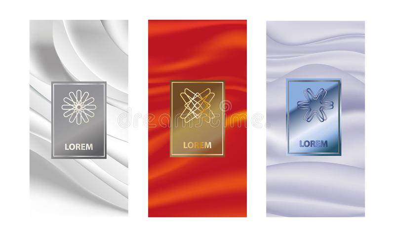 Set packaging templates with different texture for luxury products.logo design with trendy linear style. illustration vector illustration