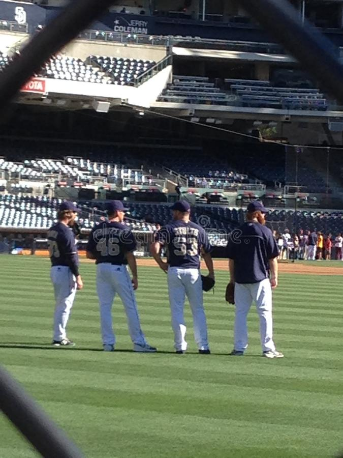 A set of Padres. Padre fans take a look stock image