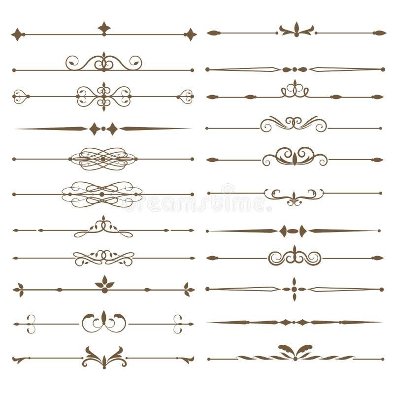 Set page dividers. Antique decorative elements. Vector illustration royalty free illustration