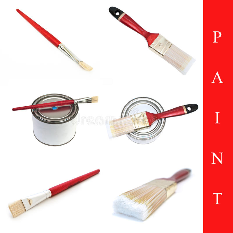 Download Set of paint brushes stock image. Image of collage, collection - 13743699