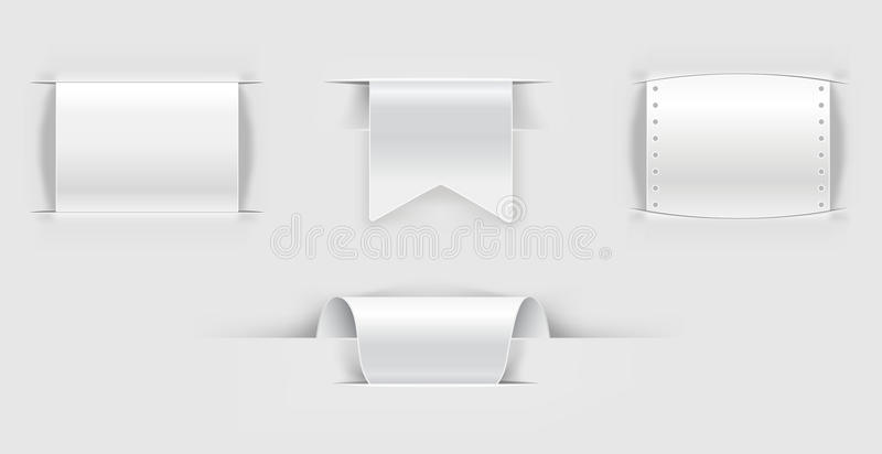 Download Set of paper llabels stock vector. Illustration of announcement - 23601707