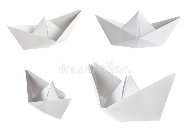 Set of paper ships royalty free stock photos