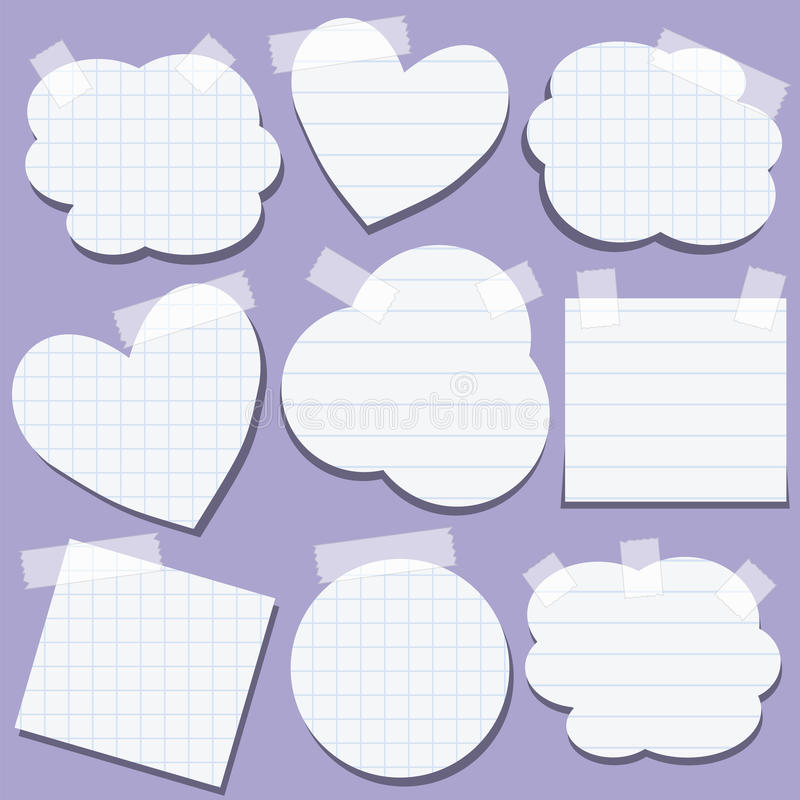 Download Set Of Paper Stickers With Tape Stock Illustration - Illustration of clean, label: 24259671