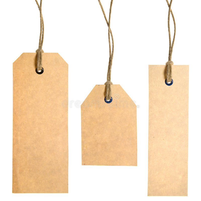 Set Of Paper Tags stock photo