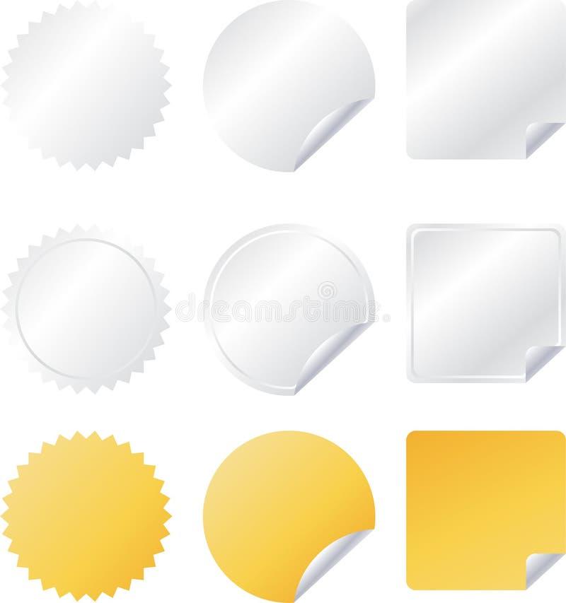 Set of paper vector web badges royalty free illustration