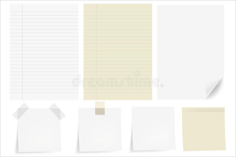 Set Papers stock illustration