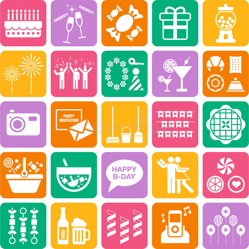 Download Set Of Party Web Icons Royalty Free Stock Photos - Image: 34689168