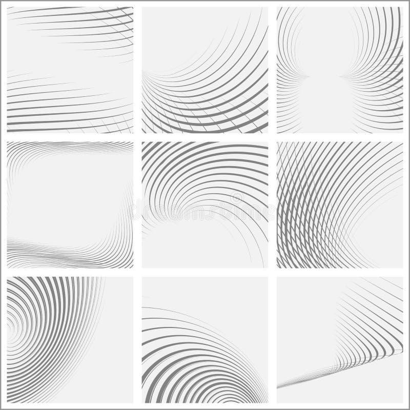 Set pasiaste abstrakcjonistyczne formy ilustracja wektor