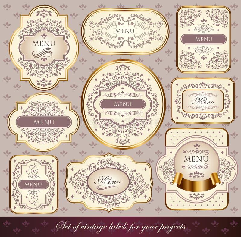 Download Set Of Pastel Colors Labels Stock Illustration - Image: 23069313