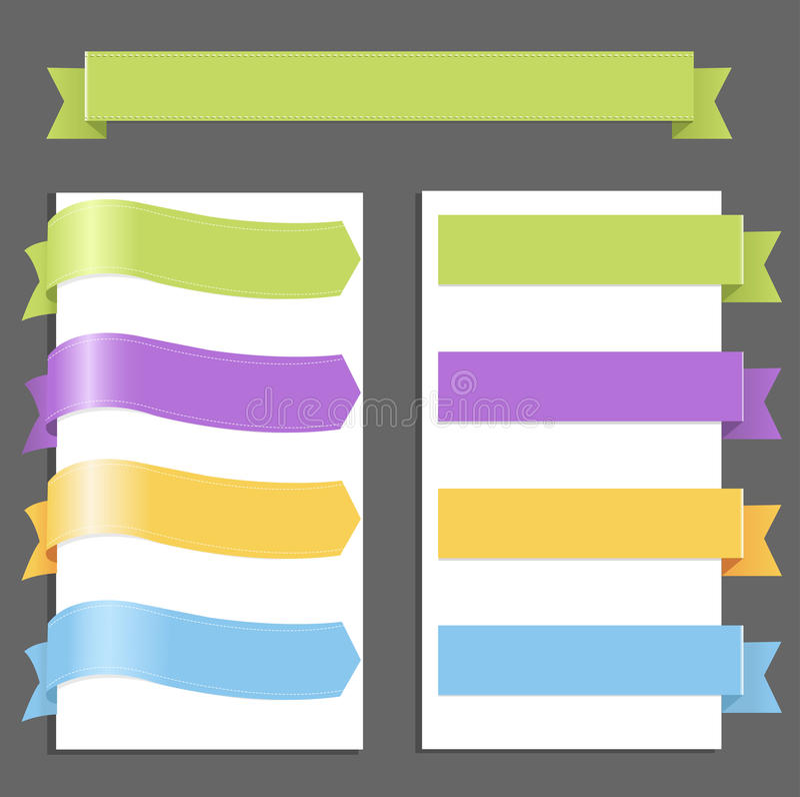 Download Set Pastel Ribbons stock vector. Illustration of green - 19235961