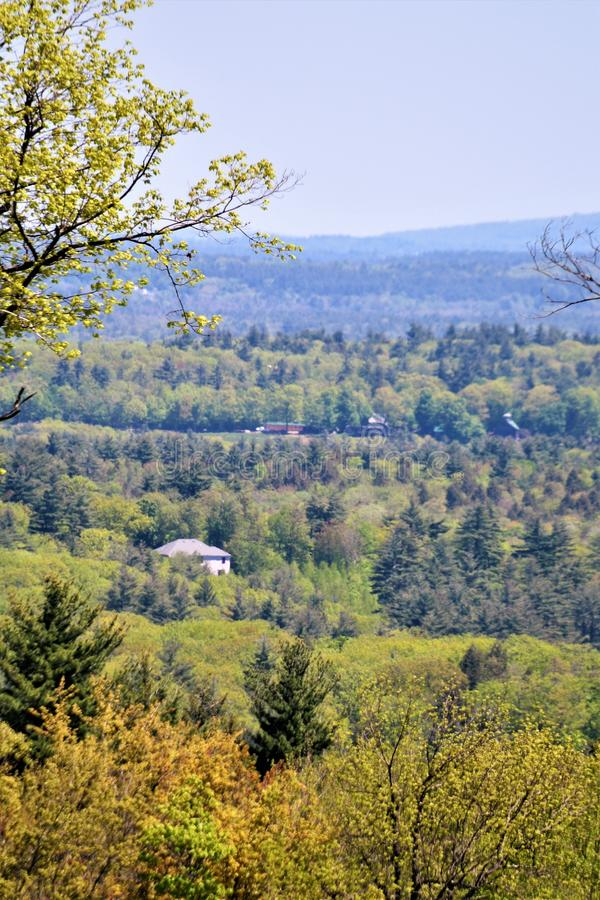 Landscape view, south of the Town center of Harrisville, Cheshire County, New Hampshire, United States. Set in the pastoral town of Harrisville, Cheshire County stock photos