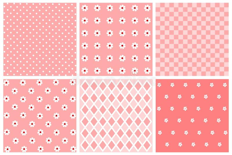 Download Set of patterns stock illustration. Illustration of template - 19673779