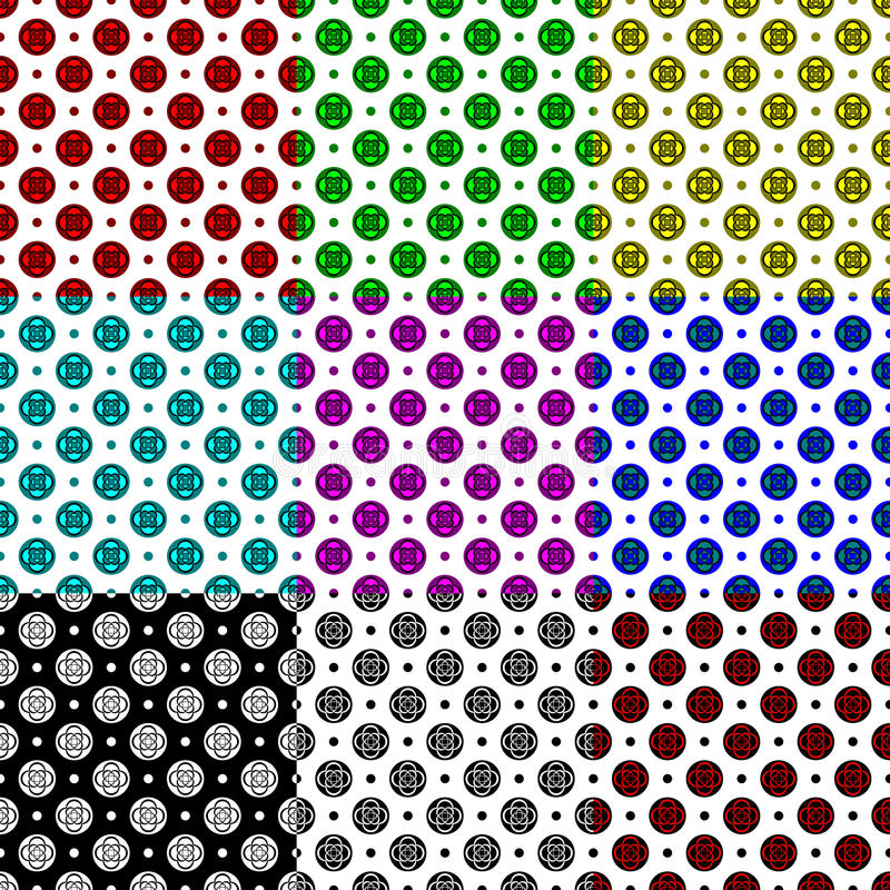 Download Set of patterns stock vector. Image of decor, black, graphic - 30960121