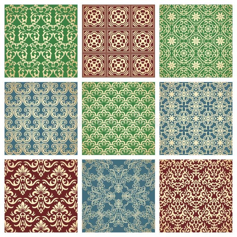Set Of Patterns vector illustration