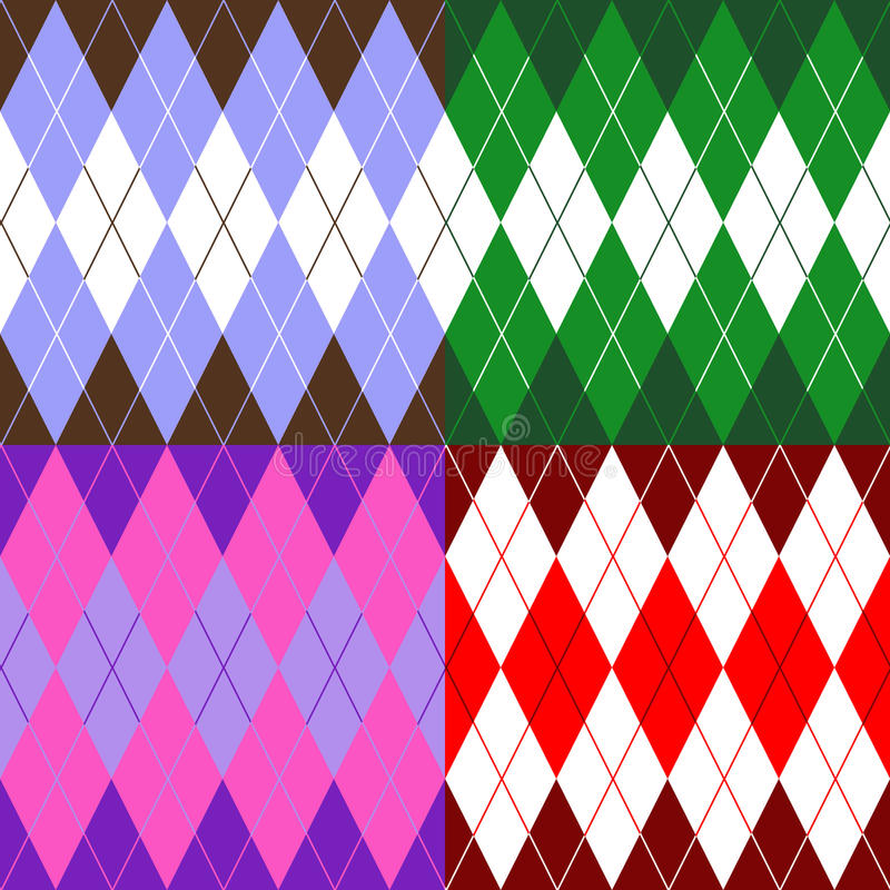 Set of patterns wiyh rhombuses