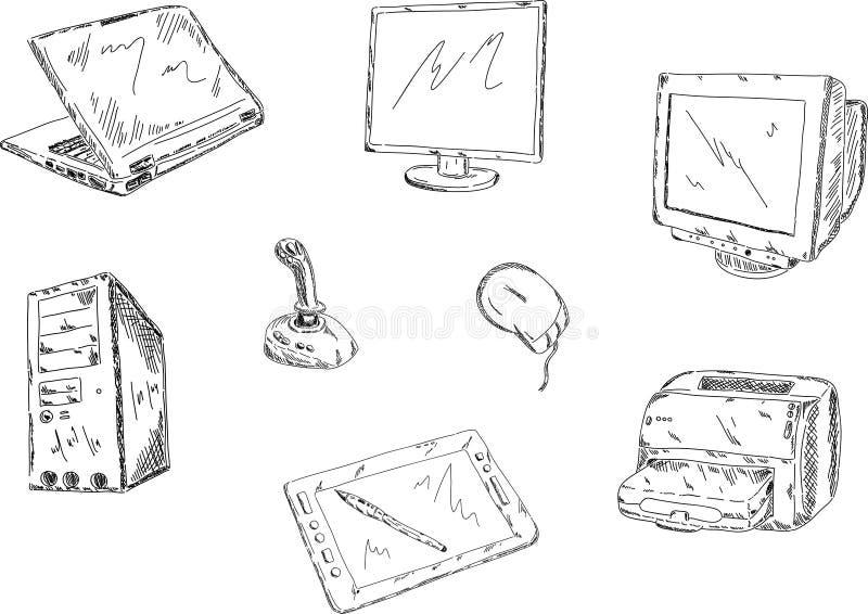 Set PC Stockfoto