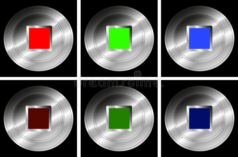 Set pchnięcie guziki dla przerwy - wektor ilustracja wektor