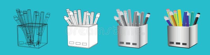 cartoon pencil holder stock illustrations 291 cartoon pencil holder stock illustrations vectors clipart dreamstime