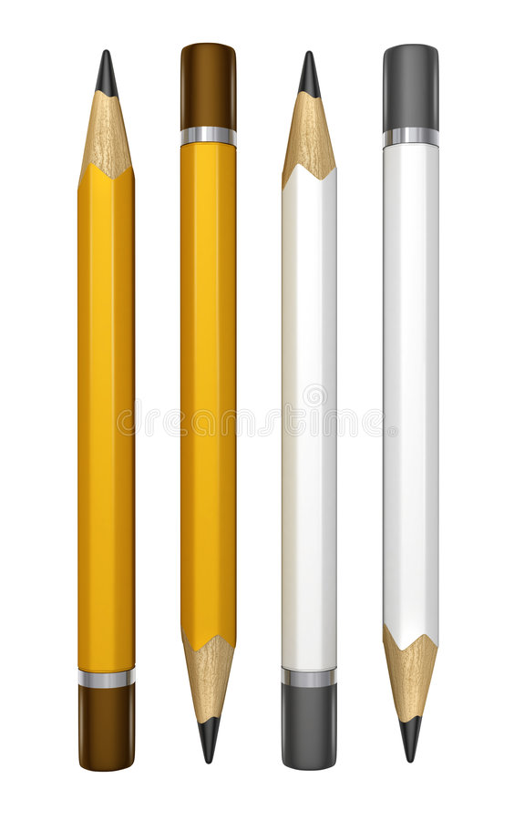 Set of pencils for drawing vector illustration