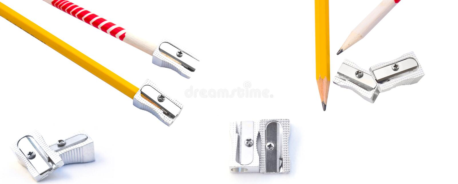 Download Set Of Pencils And Sharpeners Stock Photo - Image of sketching, utensils: 21714030