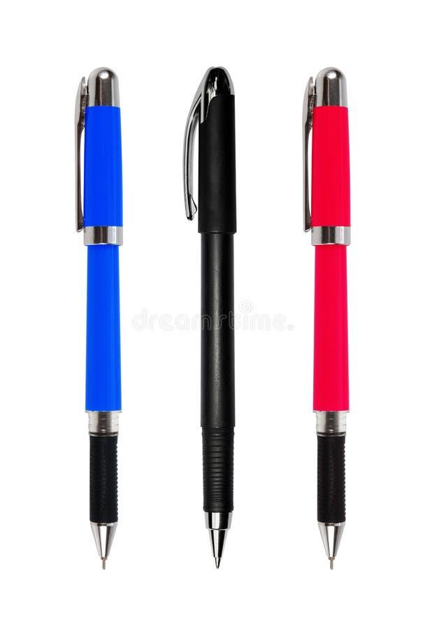 Set of pens isolated on white background. Set of the pens isolated on white background royalty free stock image