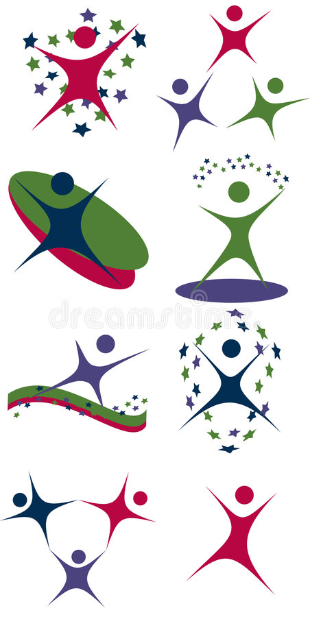 Set of people icons stock illustration