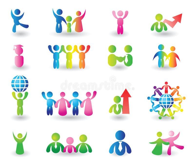 Set of people icons stock illustration