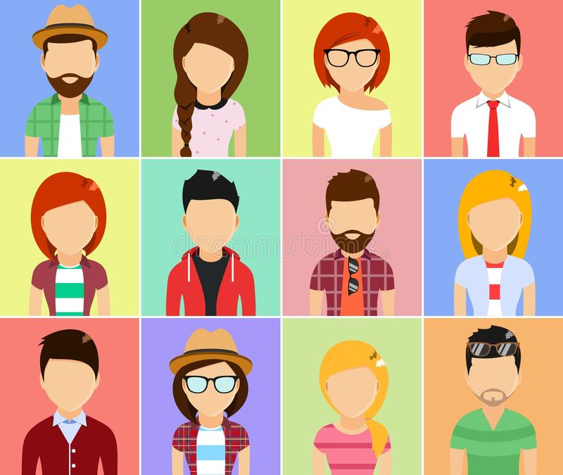 set of people icons royalty free stock photography