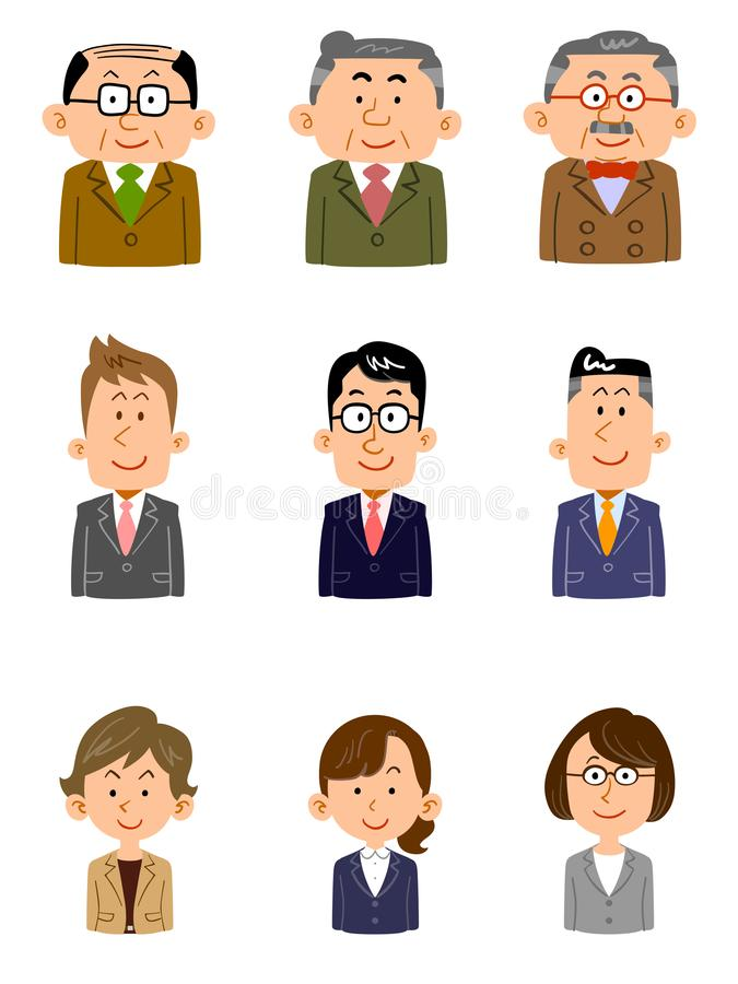 Set of people working at the office, Various ages, gender. The image of a Set of people working at the office, Various ages, gender vector illustration