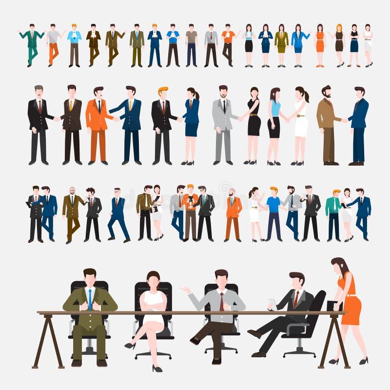 Set_Peoples_01 stock illustration