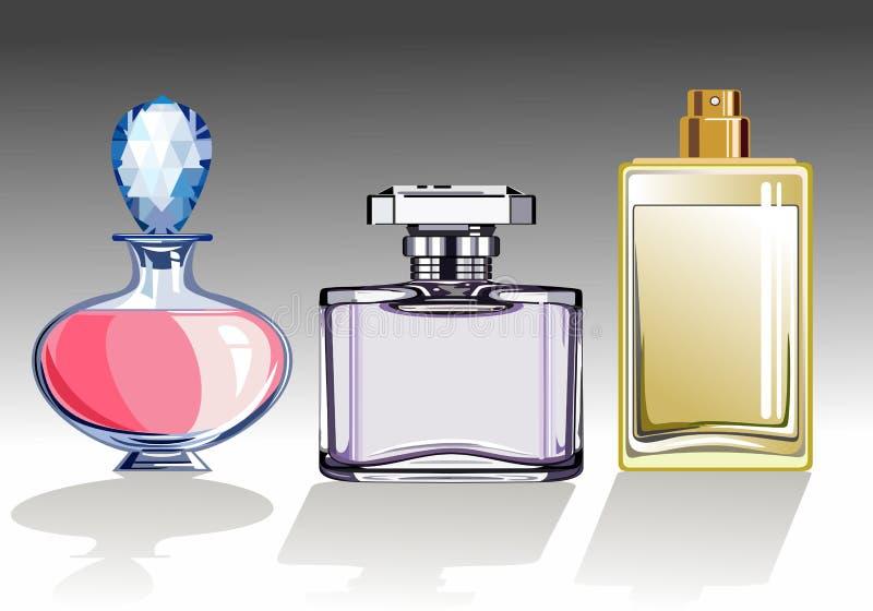 Set of perfume bottles royalty free stock images