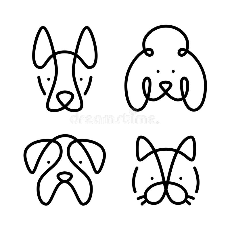 Set of pets. Vector shape royalty free illustration