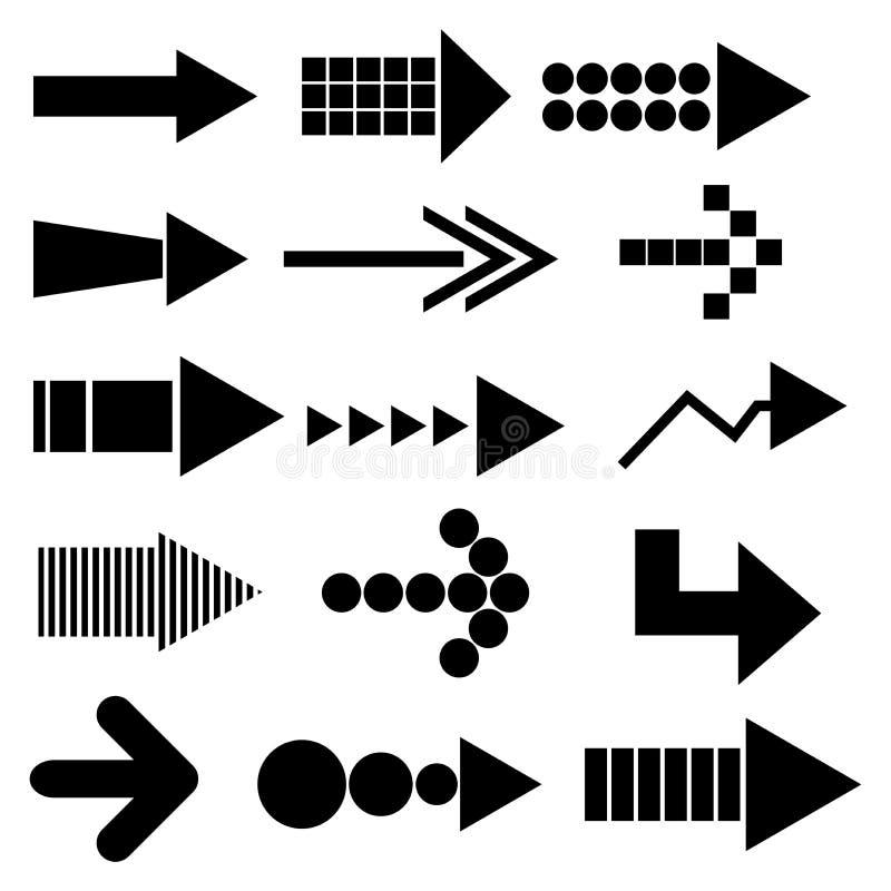 Set Pfeilikonen lizenzfreie abbildung