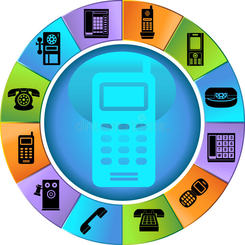 Download Set Of Phone Buttons - Wheel Stock Vector - Illustration: 9416691
