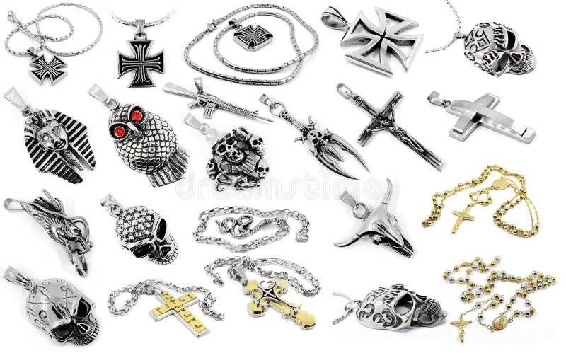A set of photos jewelery - Pendants. White background vector illustration