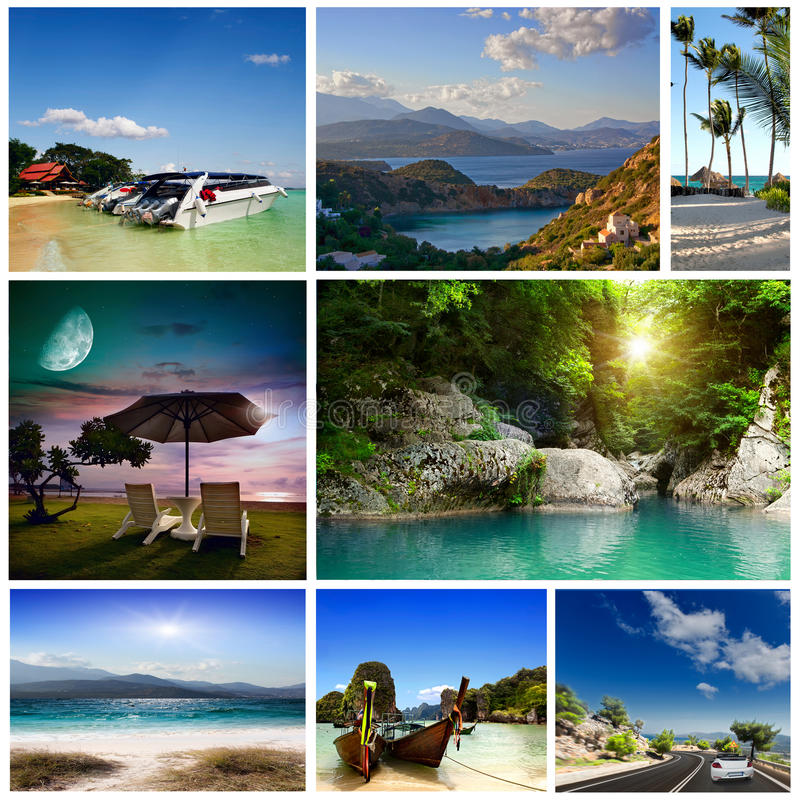 Download A Set Of Photos Of Summer Holidaym Stock Photo - Image: 34157712