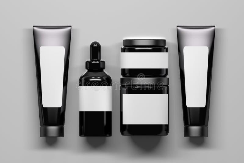 Set pięć kosmetycznych pakuje butelek royalty ilustracja