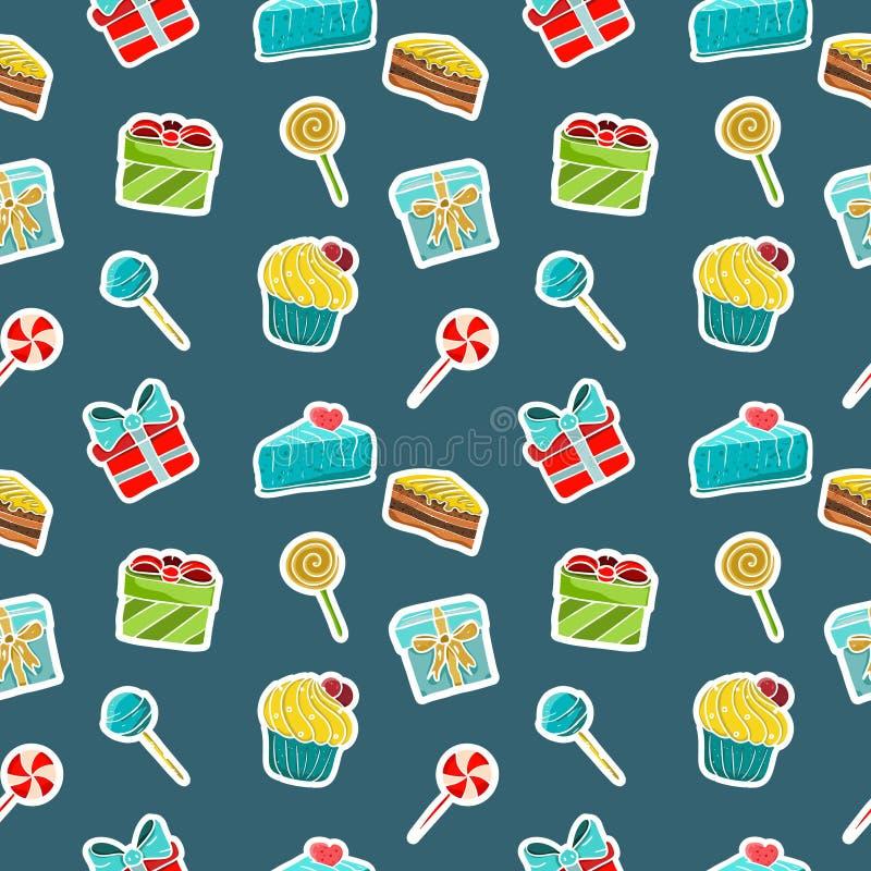 Set piękni ikon sstickers ilustracji