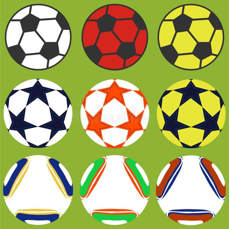 Set piłek nożnych piłki ilustracji