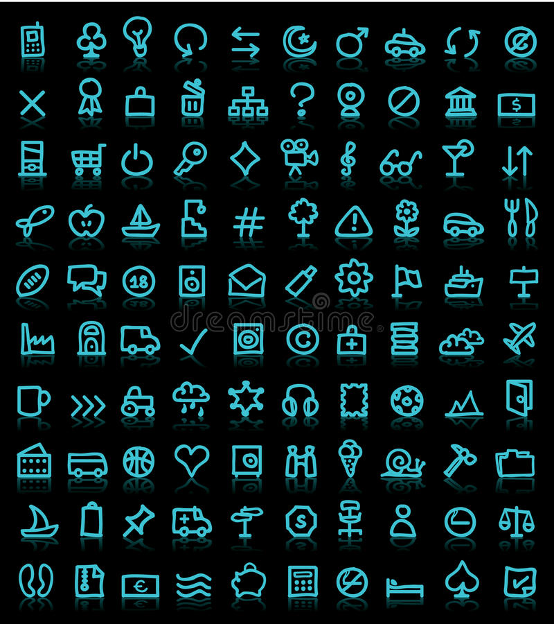 Download Set of pictograms stock vector. Image of graphical, objects - 20597773