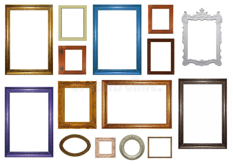 Set of picture frames stock image