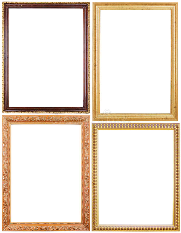 Set of picture frames on white royalty free stock photo