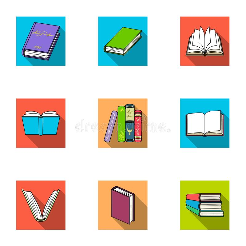 A set of pictures with books. Books, notebooks, studies. Books icon in set collection on flat style vector symbol stock. Web illustration vector illustration