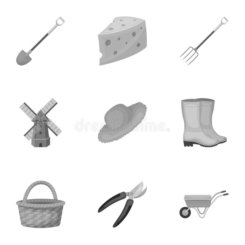 Set of pictures about gardening. Village, vegetable garden, garden, ecology.Farm and Gardening icon in set collection on vector illustration