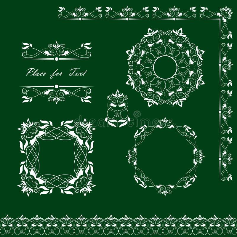 Set pieluchy, ramy, faborki i sekcje, również zwrócić corel ilustracji wektora ilustracja wektor
