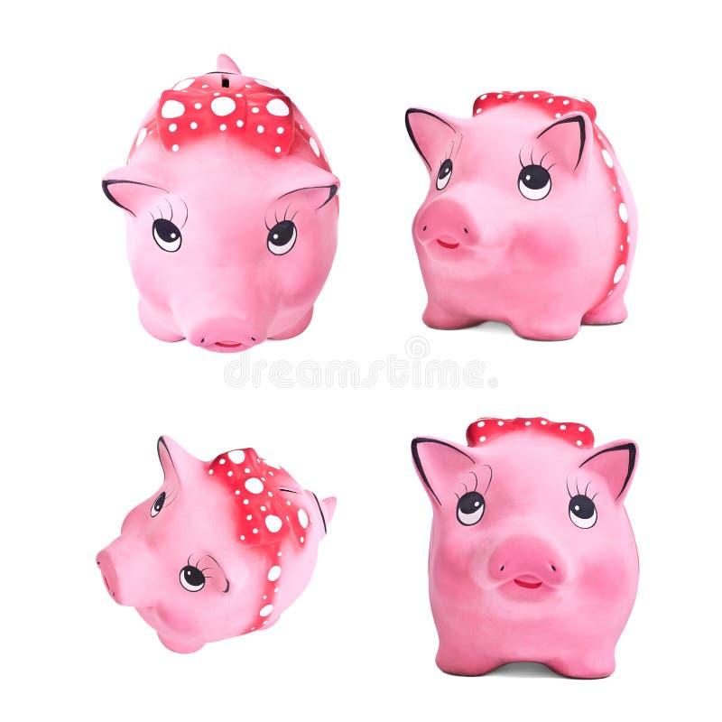 Set of piggy moneybox royalty free stock photo