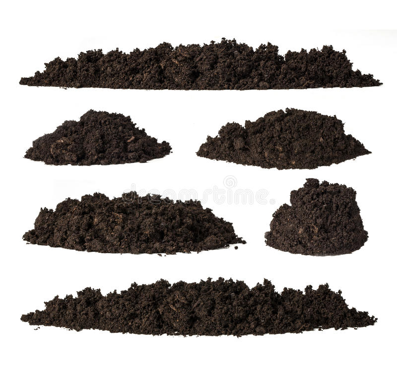 Set pile of soil royalty free stock images