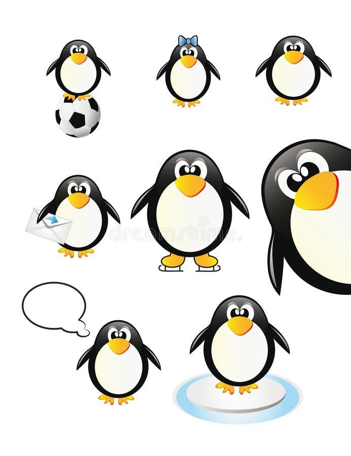 Set Pinguine lizenzfreie abbildung